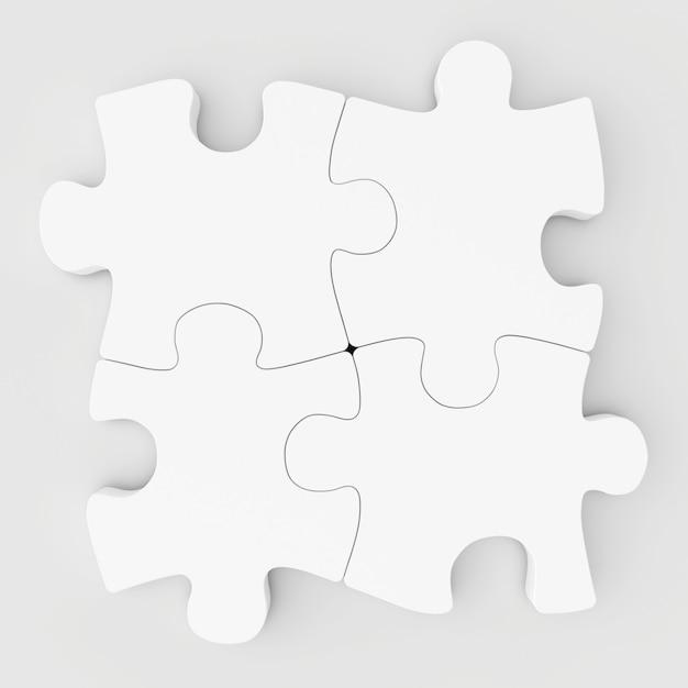 Quebra-cabeças coletados em branco Foto Premium