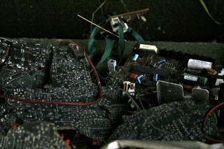 rádio quebrado, printplate