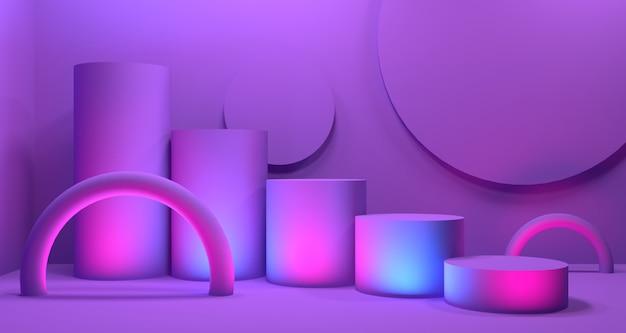 Realismo moderno em profundidade 3d. renderização 3d em segundo plano Foto Premium