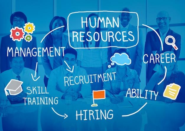 Recrutador de contratação de recursos humanos selecione o conceito de carreira Foto gratuita