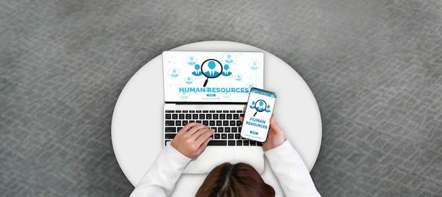 Recursos humanos e conceito de rede de pessoas Foto Premium