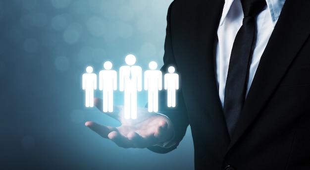 Recursos humanos, gestão de talentos e conceito de negócio de recrutamento Foto Premium