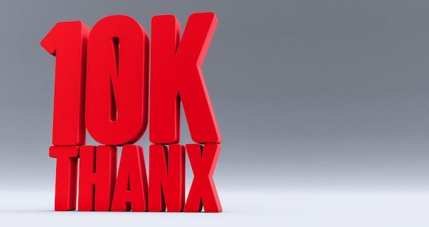 Red obrigado 10 mil seguidores, obrigado seguidores parabéns post Foto Premium