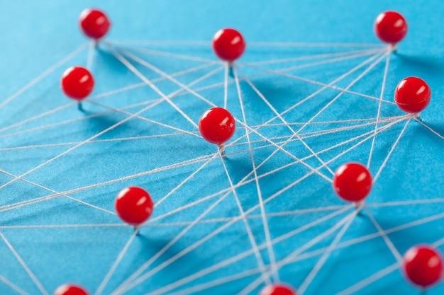 Rede com pinos Foto Premium