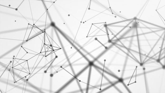 Rede de rede abstrata conectada Foto Premium