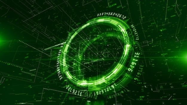 Rede de tecnologia e fundo de conexão de dados Foto Premium