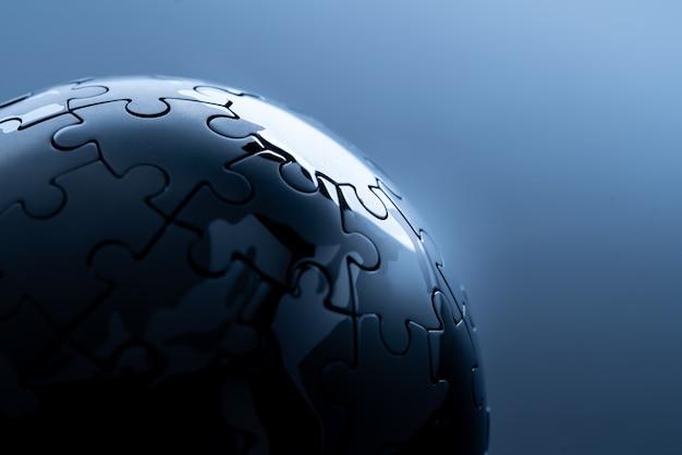 Rede global para o conceito de tecnologia Foto Premium