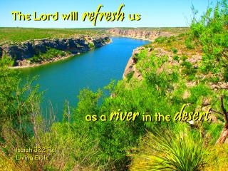 Refrescado como um rio no deserto Foto gratuita