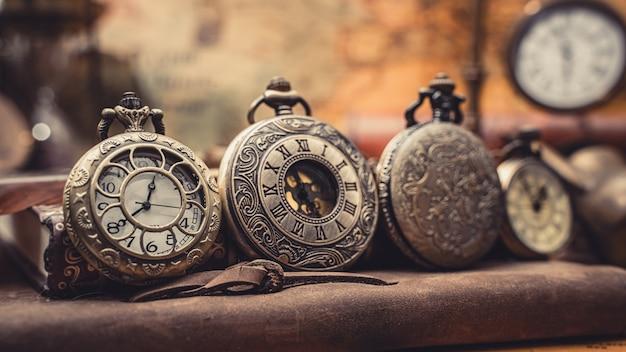 Relógio de bolso vintage Foto Premium