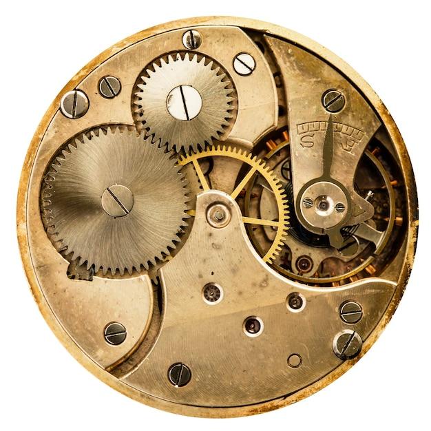 Relógio mecânico antigo de alta resolução e detalhes Foto Premium