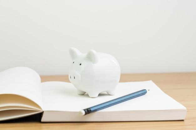 Renda, imposto, poupança, planejamento de finanças pessoais ou conceito de investimento Foto Premium