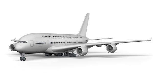 Render 3d do avião de passageiros Foto Premium