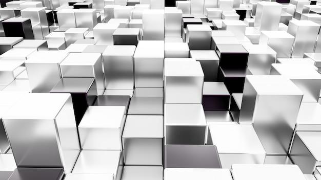 Renderização 3d abstrata cubesseamless fundo. Foto Premium