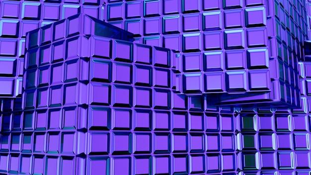 Renderização 3d abstrato azul Foto Premium