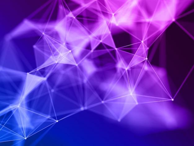 Renderização 3d de um fundo de ciências com linhas e pontos de conexão Foto gratuita