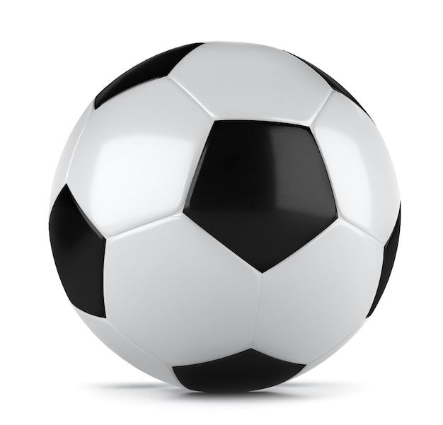 Renderização 3d de uma bola de futebol clássica Foto Premium