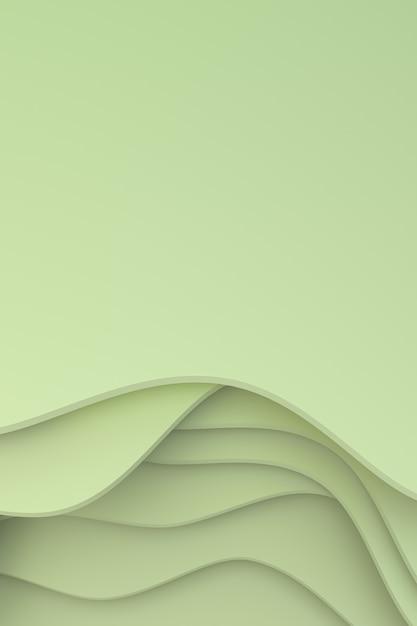 Renderização 3d, design de fundo abstrato de arte de corte de papel para modelo de cartaz, fundo abstrato padrão Foto Premium