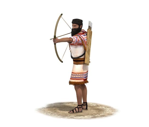 Renderização 3d, personagem guerreiro Foto Premium