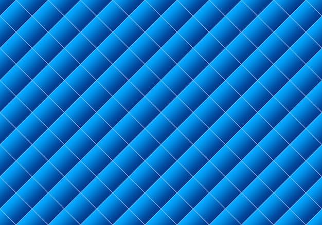 Renderização 3d. sem costura gradiente moderno cor azul grade quadrada padrão projeto parede arte fundo. Foto Premium