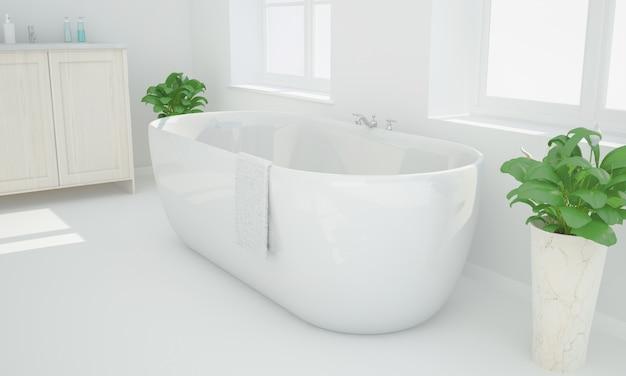 Renderização de banho Foto Premium