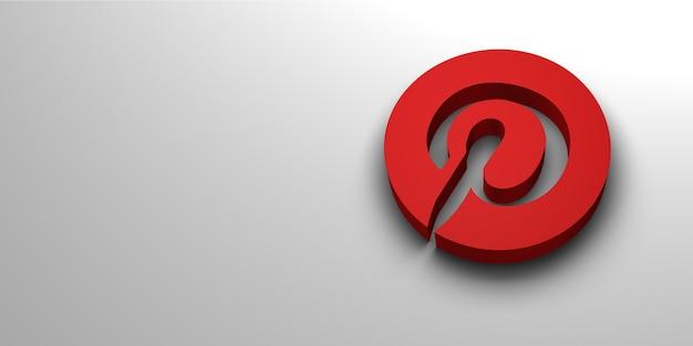 Renderização de logotipo de mídia social Foto Premium