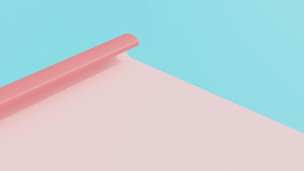 Renderização em 3d de papel com cores suaves Foto Premium