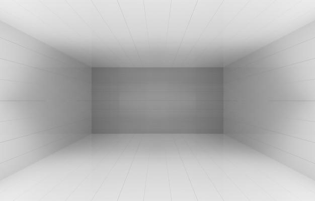 Renderização em 3d. fundo cinzento simples da parede do quadrado da sala do cornor da caixa do cubo. Foto Premium