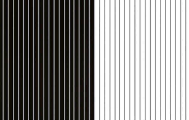 Renderização em 3d. moderno branco e preto alternativa paralela barra vertical padrão parede piso plano de fundo. Foto Premium