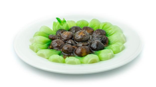 Repolho chinês com molho de ostra (bok choy) Foto Premium