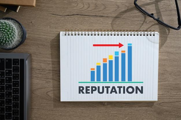 Reputação popular ranking honor management reputação branding Foto Premium