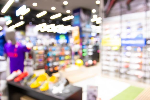 Resumo blur com bokeh e desfocado shopping em loja de departamento Foto Premium