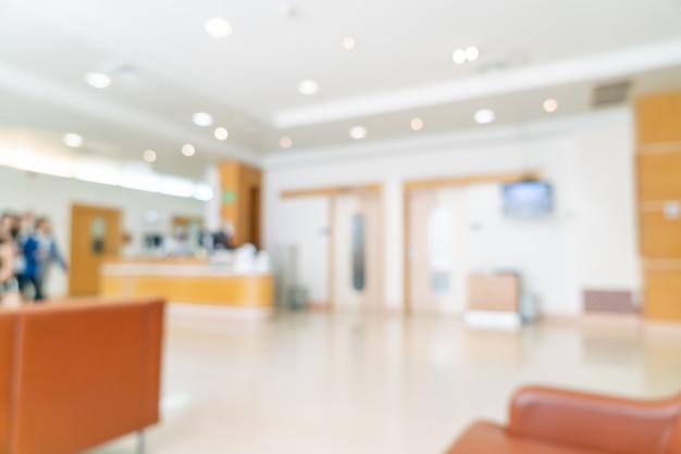 Resumo blur e desfocagem no hospital para o fundo Foto Premium