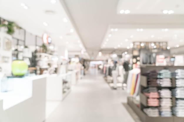 Resumo blur loja de varejo de luxo em shopping Foto Premium