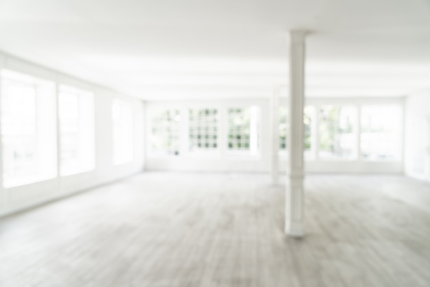 Resumo blur sala vazia com janela de vidro Foto Premium
