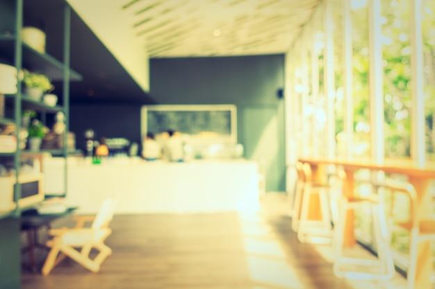 Resumo borrão de café e restaurante Foto gratuita