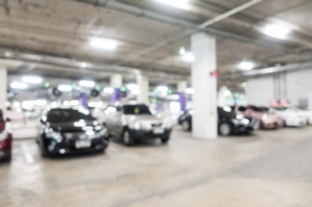 Resumo borrão de estacionamento Foto gratuita