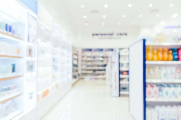 Resumo borrão e defocused farmacia e farmácia Foto gratuita