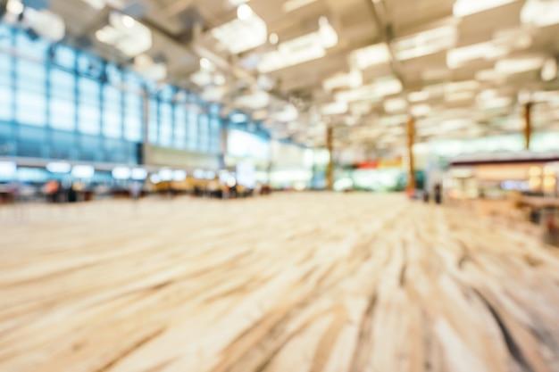 Resumo borrão e desfocado changi interior do terminal aiport Foto gratuita