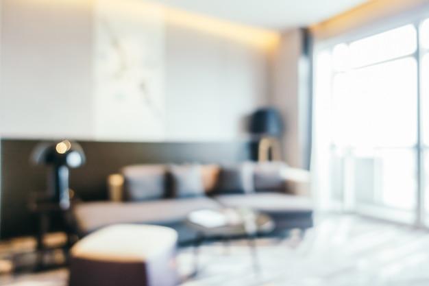 Resumo borrão interior da sala de estar Foto gratuita