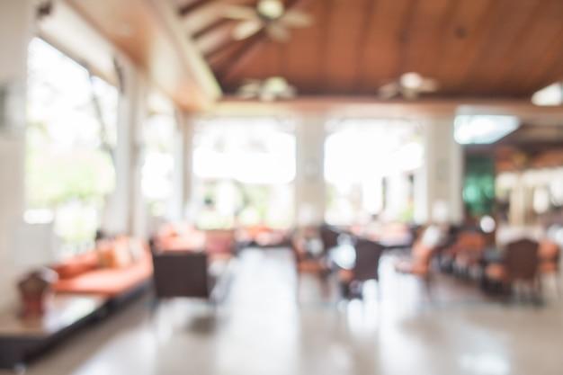 Resumo borrão interior do átrio do hotel Foto gratuita