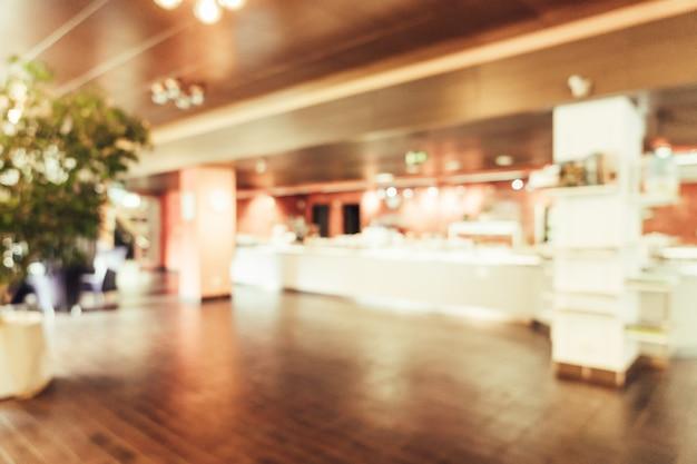 Resumo borrão no restaurante Foto Premium