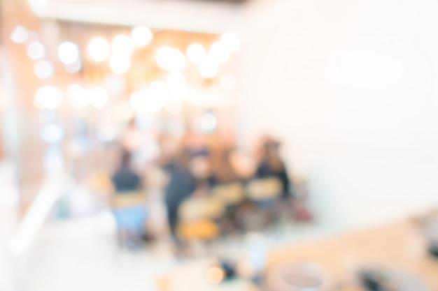 Resumo borrão restaurante do hotel buffet Foto Premium
