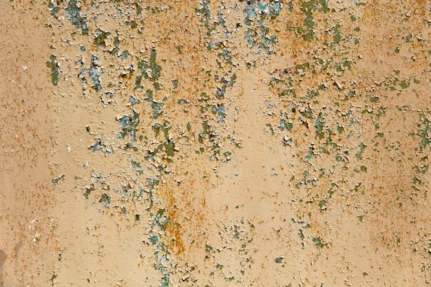Resumo corroído fundo colorido de metal enferrujado Foto Premium