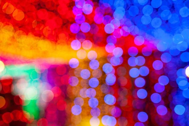 Resumo de bokeh colorido luz de fundo, conceito de escuridão Foto Premium