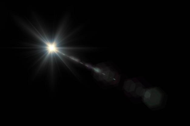 Resumo de sol com reflexo. fundo natural com luzes e papel de parede da luz do sol. Foto Premium