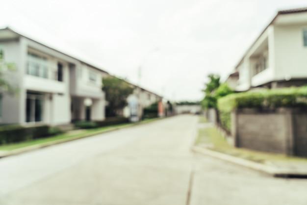 Resumo desfocar exteriores de fundo de casa Foto Premium
