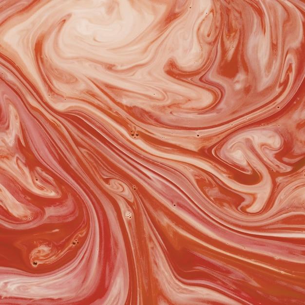 Resumo interminável um líquido de textura laranja e branco Foto gratuita