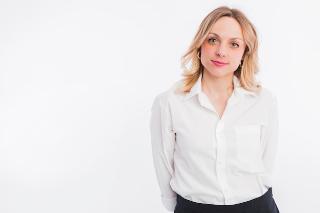 Retrato, de, advogado, mulher Foto gratuita