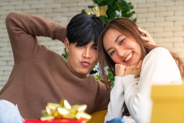Retrato de casal natal Foto Premium