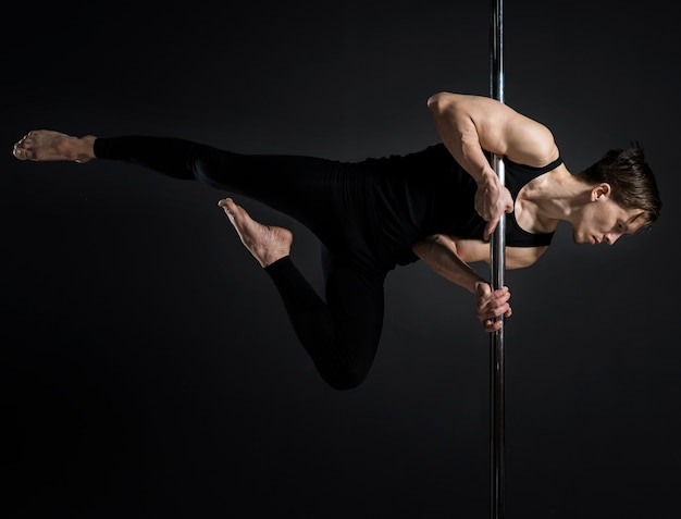 Retrato de dançarina masculina Foto gratuita